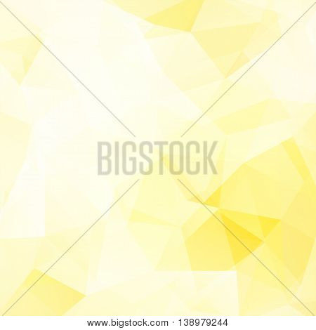 Abstract Polygonal Light Background. Yellow Geometric Vector Illustration. Creative Design Template.