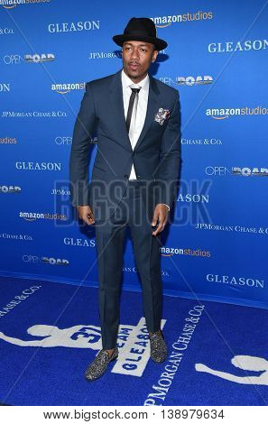 """LOS ANGELES - JUL 14:  Nick Cannon arrives to the """"Gleason"""" Los Angeles Premiere on July 14, 2016 in Los Angeles, CA"""