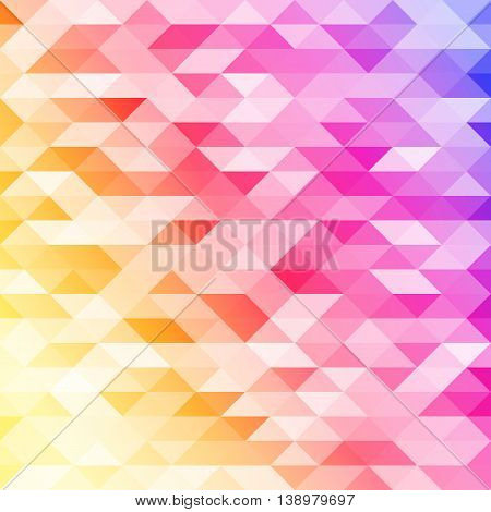 Isolated abstract colorful lowpoly designed vector background. Polygonal elements backdrop. Translucent overlays wallpaper. Decorative tile illustration.