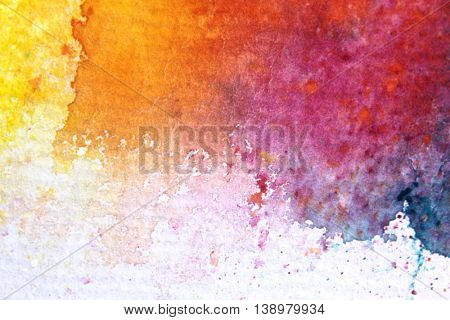Rainbow Watercolour Background 8