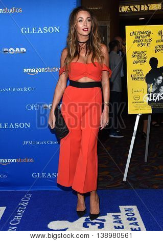 "LOS ANGELES - JUL 14:  Courtney Sixx arrives to the ""Gleason"" Los Angeles Premiere on July 14, 2016 in Los Angeles, CA"