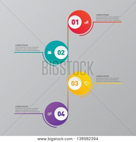 Infographic business report banner template design element vector illustration
