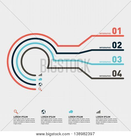 Infographic business report banner template design element vector illustration