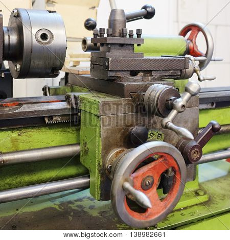 image of a lathe machine