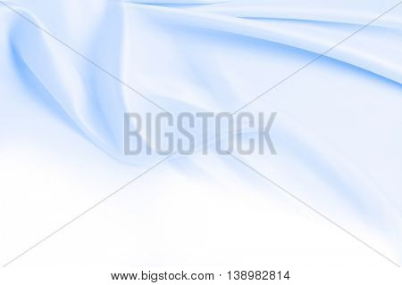 Closeup of lines in blue fabric