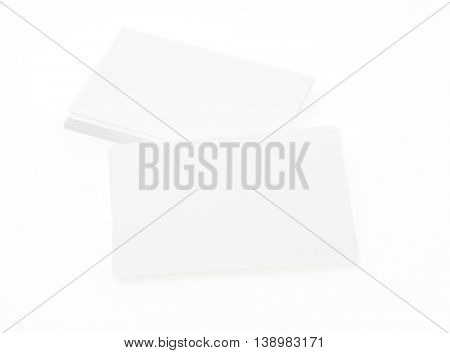 Business cards on white  background