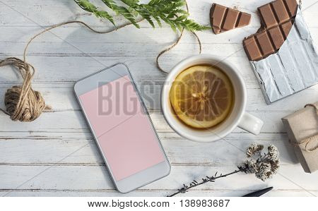 Digital Smart Phone Objects Vintage Concept