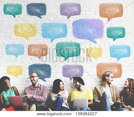 Communication Talking Icon Speech Bubble Concept