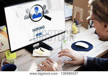 Hiring Occupation Recruitment Headhunting Jobs Concept
