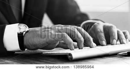 Fingers Typing Keyboard Professional Business