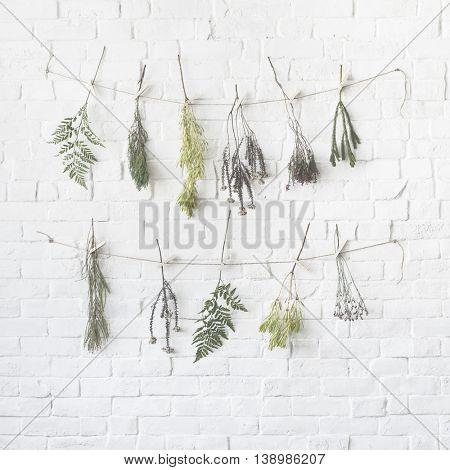 Bouquet Brick Style Recreation Refreshment Relax Concept