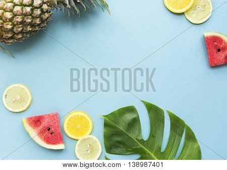 Tropical Fruit Healthy Eating Vitamin Natural Nutrition Concept