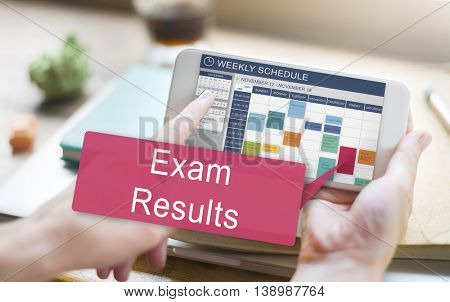 Exam Results Schedule Reminder Report Concept