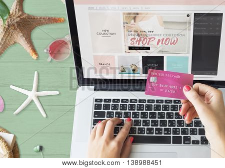 Shopping Online Credit Card Payment Concept