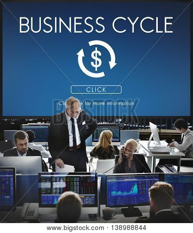 Business Cycle Economy Financial Concept