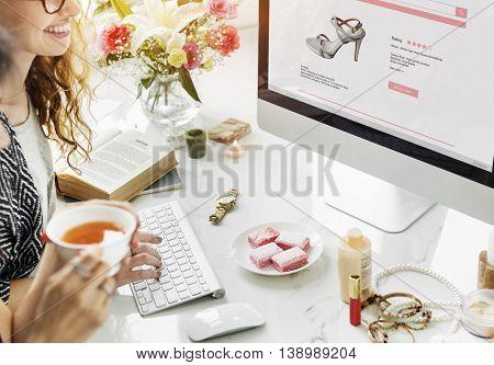 Vintage Lifestyle Minimalist Femininity Working Concept