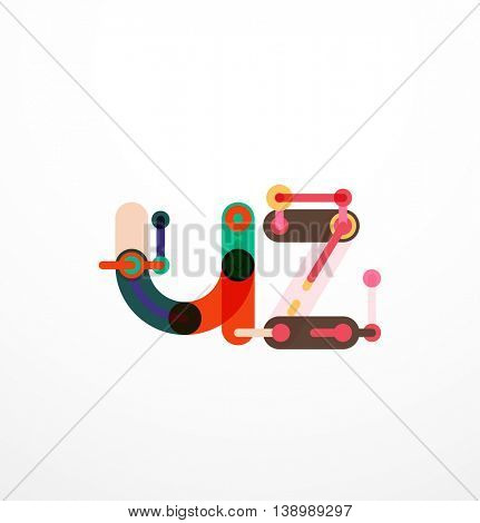 Vector letter logo. Abstract geometric colorful design