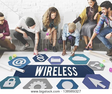 Wireless Signal Reception Mobility Graphic Concept