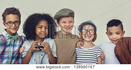 Children Friendship Togetherness Playful Happiness Concept
