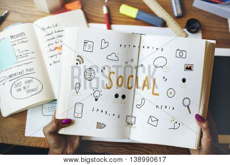 Social Word Globe Computer Speech Concept