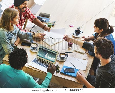 Business Meeting Brainstorming Startup Planning Concept