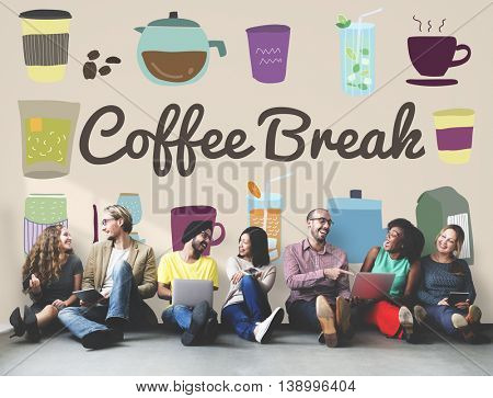 Coffee Break Beverage Pause Relaxation Casual Concept