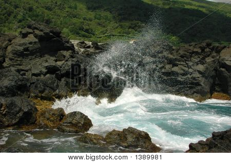 Sea, Surf, Waves, Stones, Spray