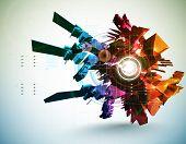 3D High Tech Element poster
