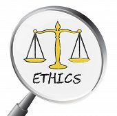 Ethics Magnifier Meaning Moral Stand And Virtues poster