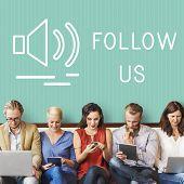 Chat Communication Online Blog Share Concept poster
