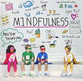 Mindfulness Optimism Relax Harmony Concept poster