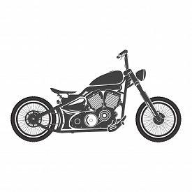 Old vintage motorcycle. retro bobber motorbike. vector illustration