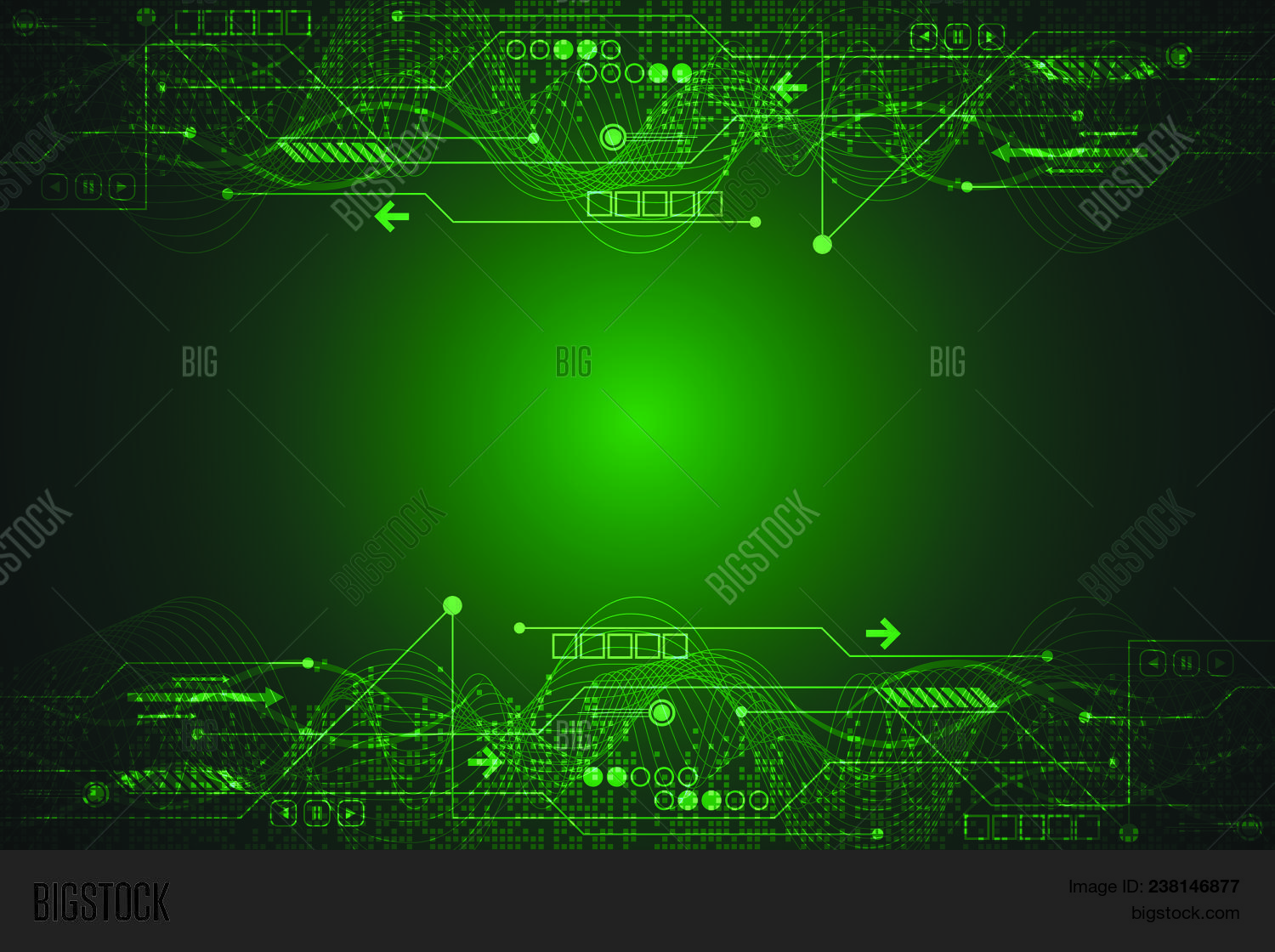 Electronic Circuit Vector Photo Free Trial Bigstock Basic Of Design On A Dark Green Background