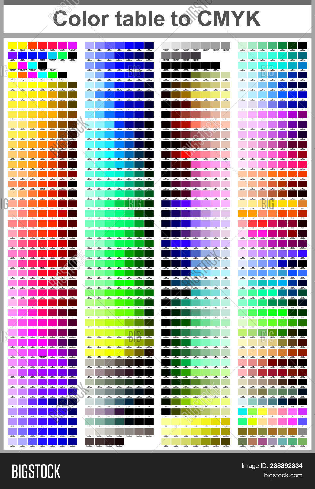 Color Print Test Page Vector Photo Free Trial Bigstock
