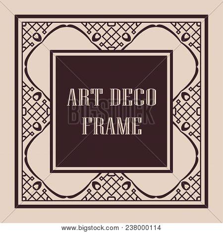 Vintage Ornamental Decorative Label Frame With Ornate Border And Vintage Pattern. Template For Desig