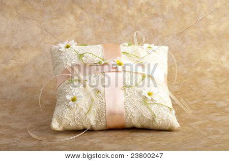 white pillow for wedding rings