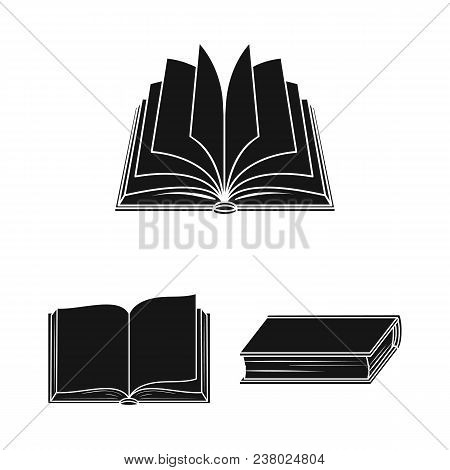 Book Bound Black Icons In Set Collection For Design. Printed Products Vector Symbol Stock  Illustrat