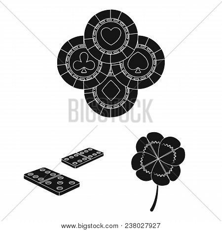 Casino And Equipment Black Icons In Set Collection For Design. Gambling And Money Vector Symbol Stoc