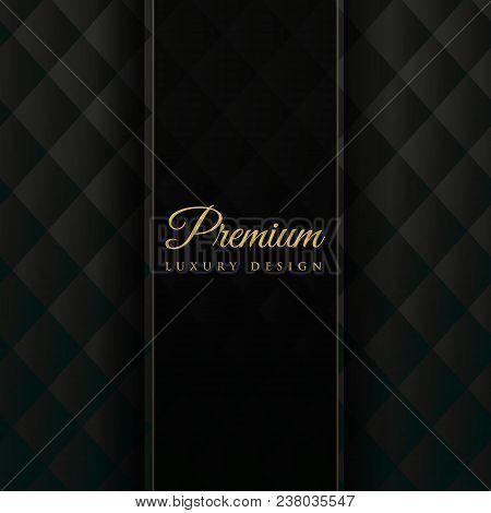 Dark Upholstery Premium Invitation Background Vector Illustration