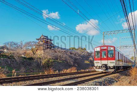 Local Train Passing Koriyama Castle