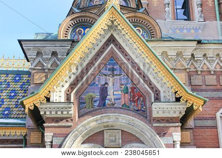 Church Architectural Elements With Ornamental Exterior Decor Of Church Of Our Savior On Spilled Bloo