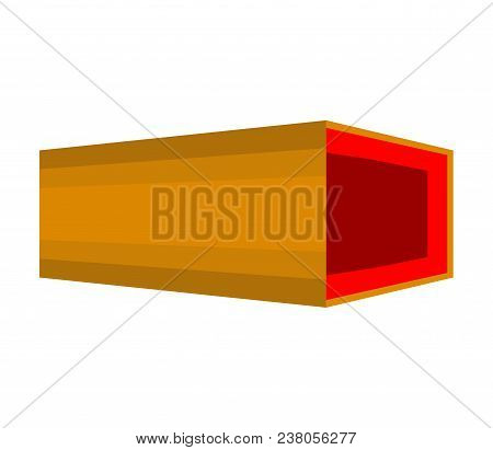 Open Coffin Isolated. Wooden Casket Vector Illustration