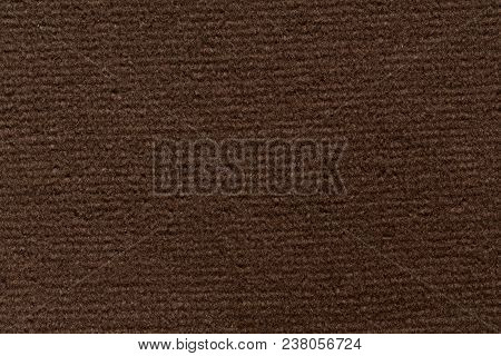 Saturated Brown Fabric Texture With Elegance. High Resolution Photo.