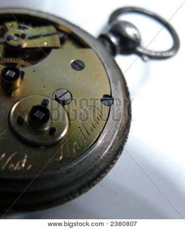 Old Pocket Watch Engraving