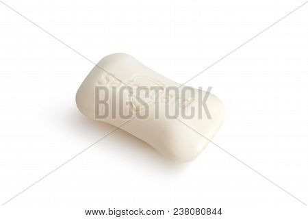 Chisinau, Moldova - April 27, 2018: Top View Of Bar Of Safeguard Fresh Soap Isolated On White Backgr