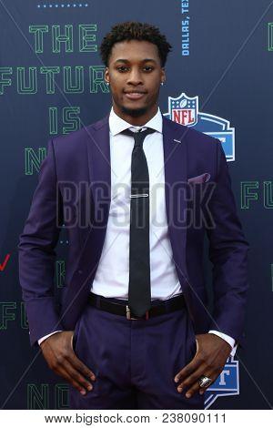 ARLINGTON, TX - Denzel Ward attends the 2018 NFL Draft at AT&T Stadium on April 26, 2018 in Arlington, Texas.