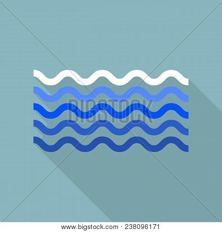 Calm Sea Icon. Flat Illustration Of Calm Sea Vector Icon For Web