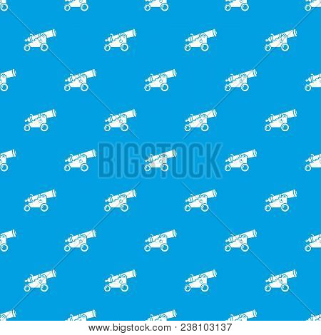 Menacing Cannon Pattern Vector Seamless Blue Repeat For Any Use