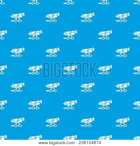 Coastal Cannon Pattern Vector Seamless Blue Repeat For Any Use