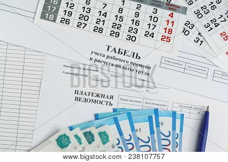 Documents For The Issuance Of Wages To Employees: Time Sheet And Payroll And Payroll